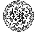 Wandaufkleber Mandala indischen Muster Yoga Oum OM Zeichen Aufkleber Vinyl Aufkleber Home Decor Art Wandmalereien Schlafzimmer Studio Fenster mn886