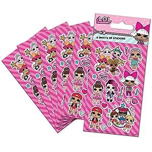 Paper Projects 01.70.15.044 L.O.L. Paquete de Pegatinas Sorpresa para Fiesta (6 Hojas)