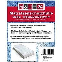 2 Stück Matratzenhüllen Matratzenschutzhüllen Schutzhüllen-Matratze für Matratzen bis 90x200 100x200, Sicherer Schutz für Umzug, Transport, Lagerung, 80µ