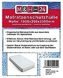 M&H-24 Matratzenschutzhüllen Matratzenhüllen Matratzenschutz Matratzenschutzhülle - Für Matratzen 90x200 100x200, Geruchsneutral, Sicherer Schutz für Umzug, Transport, Lagerung, 4 Stück 80µ