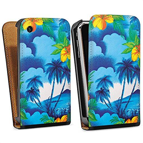 Apple iPhone 6 Housse Étui Silicone Coque Protection Vacances Palmiers Hawaï Sac Downflip noir