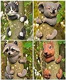 Garden Mile verschiedene Neuheit Garten Tiere Baum Peeker Neuheit Garten Verzierungen Garten Baumdekoration Garten Skulptur Statuen Wohndeko - Koala