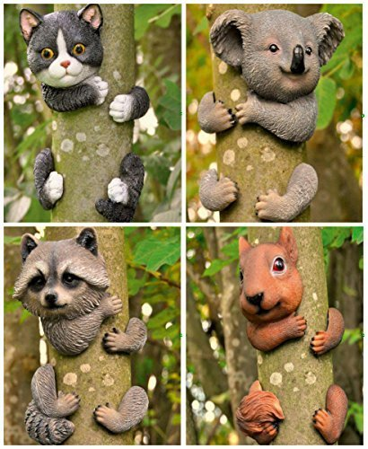 Garden Mile - Decoration for garden tree, decorative element with animal design attached to a tree, sculptures for garden, home decoration