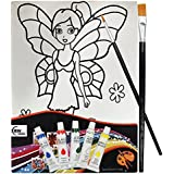 Asian Hobby Crafts Canvas Painting Kit - Tinker Bell