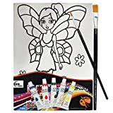 #6: Asian Hobby Crafts Canvas Painting Kit - Tinker Bell