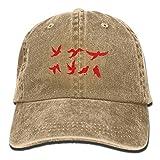 Pants Hats Flying Birds Denim Hat Adjustable Unisex Cute Baseball Hat