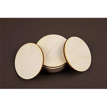 10x Kreis 10 cm Ø aus Holz Basteln Malen Dekoration Bilderrahmen Holzscheibe