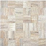 Mosaik Fliese selbstklebend Aluminium hellgrau metall Holzoptik hell für BODEN WAND BAD WC DUSCHE KÜCHE FLIESENSPIEGEL THEKENVERKLEIDUNG BADEWANNENVERKLEIDUNG Mosaikmatte Mosaikplatte