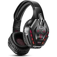 PHOINIKAS Cuffie Gaming PS4, Cuffie Wireless Bluetooth con surround 7.1 per bassi, Cuffie da Gioco con Microfono per…