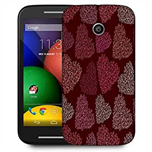 Snoogg Multicolor Hearts Designer Protective Phone Back Case Cover For Motorola E / Moto E