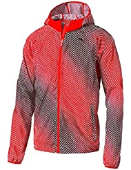 PUMA Packable Woven Jacket - Chaqueta cortavientos para hombre, color rojo, talla L