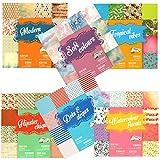 6 x Scrapbooking Papier Motivblock mit je 30 Blättern bedruckt Bastelpapier 180 Blätter 60 Designs (Set Auswahl 02)