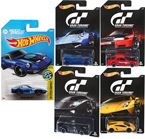 Hot Wheels Gran Turismo Video Game Cars & EA Need for Speed car set Ford GT / Pagani / Nissan Skyline / Lamborghini Gallardo / Nissan Fairlady Z by Gran Turismo