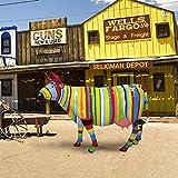 Statue aus Kunstharz | Kuh Pop Art
