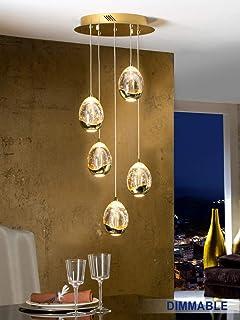 Schuller Pendelleuchte Led Rocio 5 Lichter Gold Amazon De Kuche Haushalt
