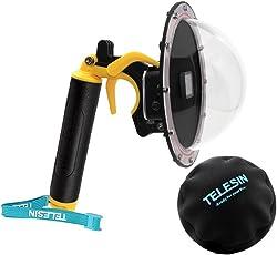 yoemely 15,2 cm Dome Port für Gopro Hero 5 Hero 6 Hero 2018 schwarz mit Tauchen Gehäuse Wasserdicht mit Trigger- und Schutz-Tasche für Unterwasserfotografie (T05)