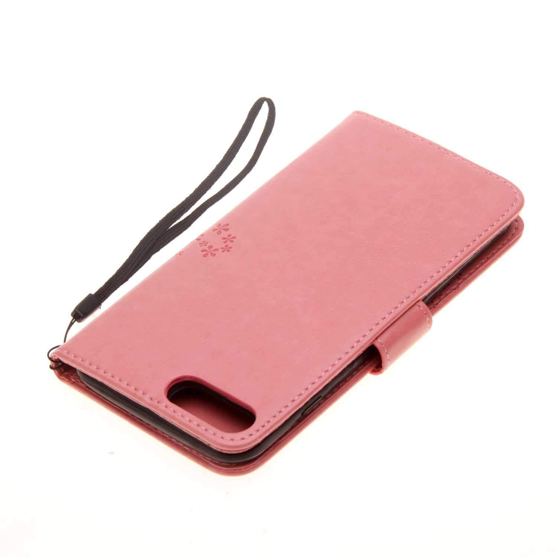 4f152e46ae6 ... Pelle Flip Portafoglio Magnetica Flip Custodia con Funzione Supporto  per Apple iPhone 7 Plus/iPhone 8 Plus – Rosa. Ritorna alla pagina  precedente. et- ...