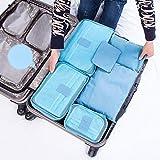 Belleza superior ** Set de viaje bolsa de almacenamiento versátil selecciones de gran capacidad para maletas bolsa de almacenamiento Azul azul