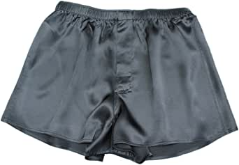 Jasmine Silk Men's Classic Silk Boxer Shorts Black