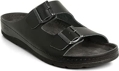 Batz ZENO Leggero e Flessibile di Alta qualità Zoccoli Sabot Pantofole Scarpe, Pelle, Uomo