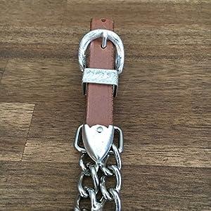 Western Kinnkette aus Leder für Kopfstück Trense Westernreiten versch. Farben