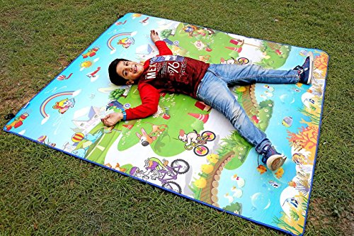 Paramount 100% Waterproof, Anti Skid ,Double Sided Baby Play & Crawl Mat (6'X5' Feet)