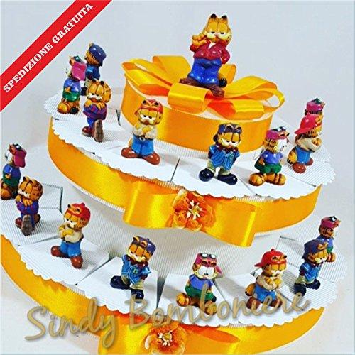 Torta bomboniere per compleanno battesimo bimbo garfield sportivo disney spedizione inclusa (torta da 28 fette)