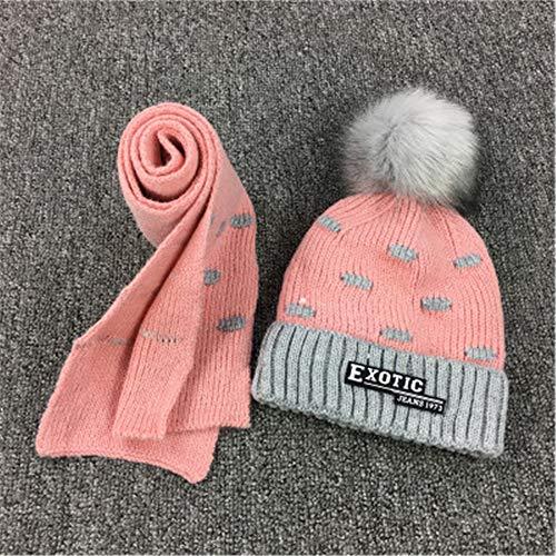 Schnee Kostüm Frau Hut Mit - GUOSH Kinder Hut Herbst Und Winter Junge Baby Plus Samt Wolle Hut Schal Zweiteiliger Anzug Stil 6