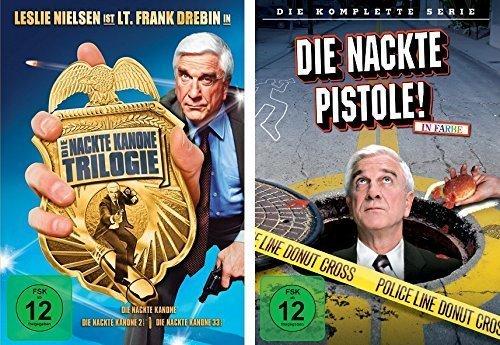 Preisvergleich Produktbild Die nackte Kanone 1/2/3 + nackte Pistole komplette Serie im Set - Deutsche Originalware [4 DVDs]