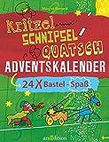 Kritzelschnipselquatsch-Adventskalender: 24 x Bastel-Spaß