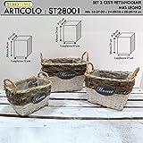 Siro Time Korb, Weiß und Holz, Einheitsgröße