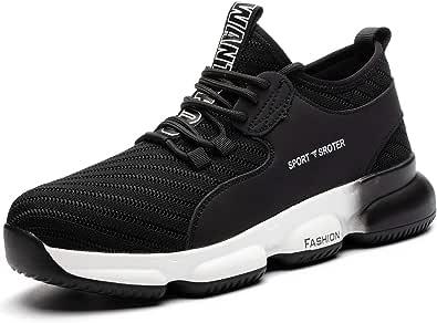 SROTER Chaussures de sécurité Homme Femmes Embout Acier Protection Chaussures de Travail Légèr Basket Securite Respirantes Unisexes