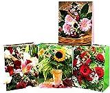 Geschenktüten Medium (Mittel) -K&B Vertrieb- Blumentasche Blumenbeutel Beutel Geschenktaschen 410 (96 Stück)