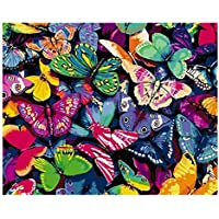 S-TROUBLE Butterfly DIY Paint by Numbers Modern Wall Art Picture para niños y Adultos
