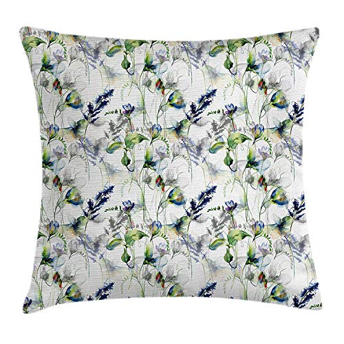 apnzll Cartoon Throw Pillow Cushion Cover, Aquarium Themed Fish Cartoons with Spots and Lines Geometrical Backdrop Art Print, Decorative Square Accent Pillow Case, Multicolor 18