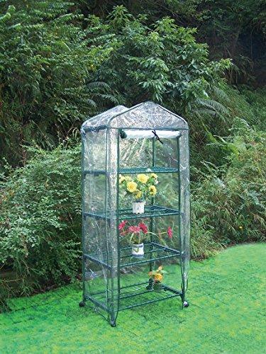 Biotop B2092 - Invernadero 4 bandejas de 68 x 49 x 156 cm, color transparente