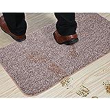 Sofhom Fussmatte/Schmutzfangmatte/Sauberlaufmatte/Türvorleger aus Baumwolle, rutschfest und waschbar - für den innen und außen (50x80cm)