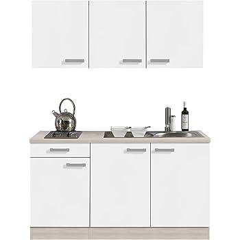 Amazon.de: Singleküche BARCELONA | Miniküche mit Glaskeramik ...