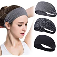 GoHZQ Sports Women Headband Hair Band for Adult Women Non Slip Wicking Stretchy Head Band for Sports,Yoga,Dancing…