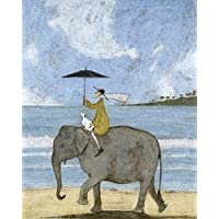 "Sam Toft ""On The Edge of The Sand"" Canvas Print, Cotton, Multi-Colour, 3.20 x 40.00 x 50.00 cm"
