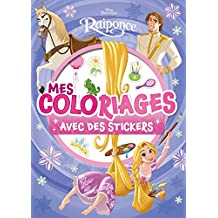 Raiponce, Princesses, MES COLORIAGES AVEC STICKERS