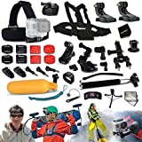 Xtech GoPro HERO Ultimate 33 Piece Accessory Kit for GoPro HERO4 Hero 4, Hero3+ Hero 3+, HERO3 Hero 3, HERO2 Hero 2, HD Motorsports HERO, Surf Hero, GoPro Hero2 Outdoor Edition Digital Cameras Includes: Chest Strap Mount+2 J-hooks+Head Strap Mount+Car Suction-cup Mount+Handheld Monopod+Bike Mount+Camera Mount+Helmet Mount+Remote Control Wrist Strap+Floating Bobber Handle+Table Tripod+2 Screen Protectors+Lens Cap Keeper+Deluxe Cleaning Kit