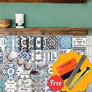 Walplus Entfernbarer Selbstklebend Wandkunst Aufkleber Vinyl Wohndeko DIY  Wohnzimmer Schlafzimmer Küche Dekor Tapete Retro Braun U0026