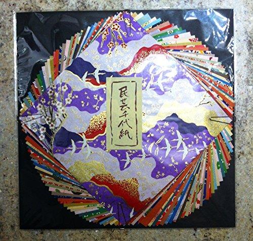 Washi Chiyogami Mingei 20 fogli di carta fotografica, 20 fogli, 15 x 15 (Washi Chiyogami Carta)