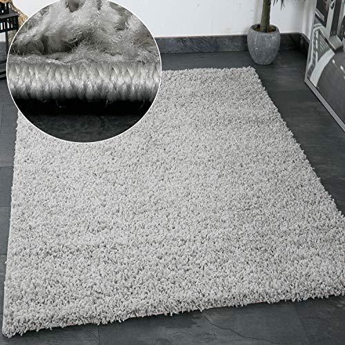 Vimoda Primo Shaggy Tappeto Pelo Lungo Tappeti Moderni per Soggiorno Camera  Letto in Bianco e Nero Nougat Marrone Chiaro Grigio, 60x100 cm