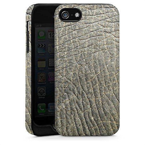 Apple iPhone 4 Housse Étui Silicone Coque Protection Look peau d'éléphant Motif peau d'animal Structure Cas Tough brillant