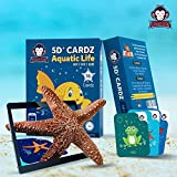 #6: Aquatic Life | Age 3-10 Years | Educational Games for Boys & Girls | Augmented and Virtual Reality based Learning kit | Flash Card Games | Perfect Return Gift for Kids Birthday