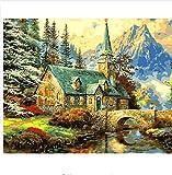 LIWEIXKY Dipinto Ad OlioFramelessSeascape By Numbers Disegno Nodulare Piccola Isola Balneare Dipinto A Mano Disegno Immagine su Tela Decorazioni per La Casa Arte Bello 40x50cm