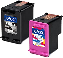 Jofoce Remanufactured HP 301XL 301 Cartucce d'inchiostro (1 Nero,1 Tricromia), Compatibile con HP Deskjet 2540 1510 3050A 3055A 1050A 2050 3000 2544 2542 1514 2050A, Officejet 4630 4634, Envy 4500 5530 5532 5534 Stampante