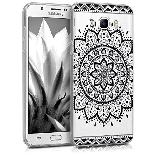 kwmobile Samsung Galaxy J7 (2016) Hülle - Handyhülle für Samsung Galaxy J7 (2016) - Handy Case in Schwarz Transparent